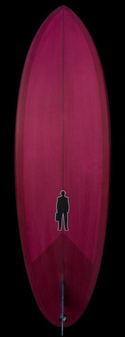 Bullet Single Fin | Magenta Red resin tint