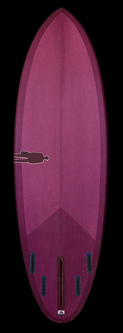 Stock Bullet Single Fin | Magenta Purple resin tint