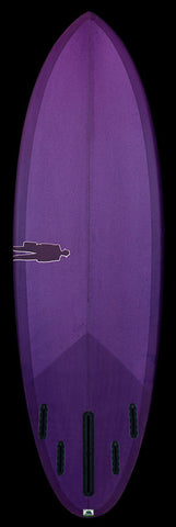 Bullet Single Fin | Rich Purple resin tint