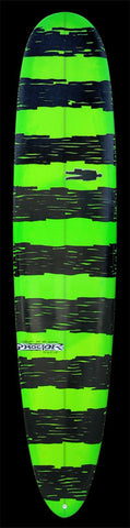 Performance Longboard | Green w/ Black Organic stripes
