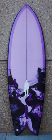 PostMod Jet | Twin/Quad Fish | Pale Purple, Rich Plum & Black swirl