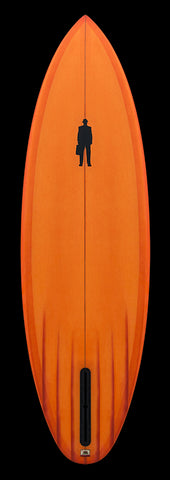 Sickle | Six Channel Single Fin | tangerine resin tint
