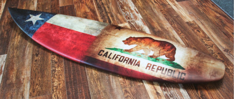 TexCali Maps Custom Decorative Surfboard