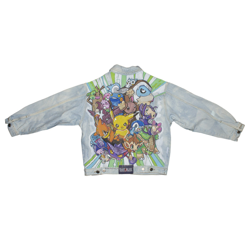 POKEMON CUSTOM PAINTED DENIM JACKET