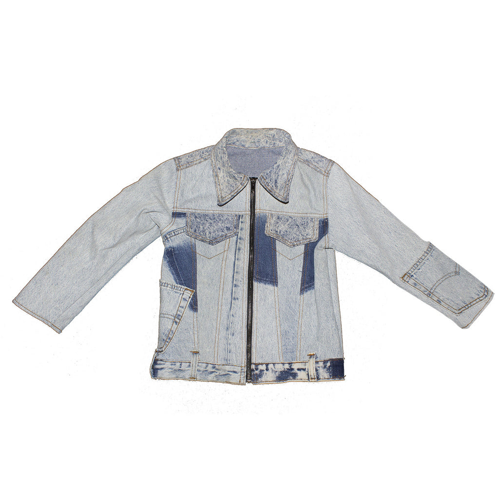 Mixed Denim Trucker Jacket