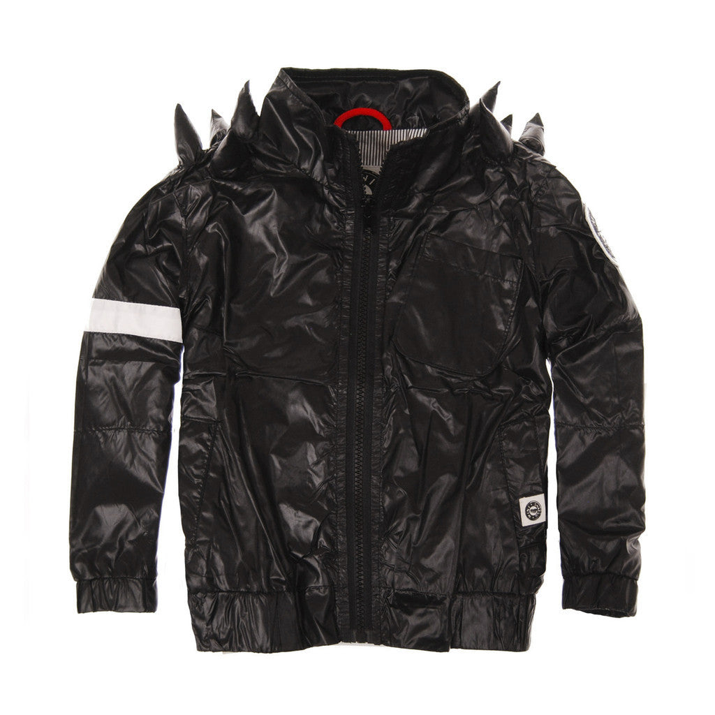 Black Spikes Windbreaker Jacket