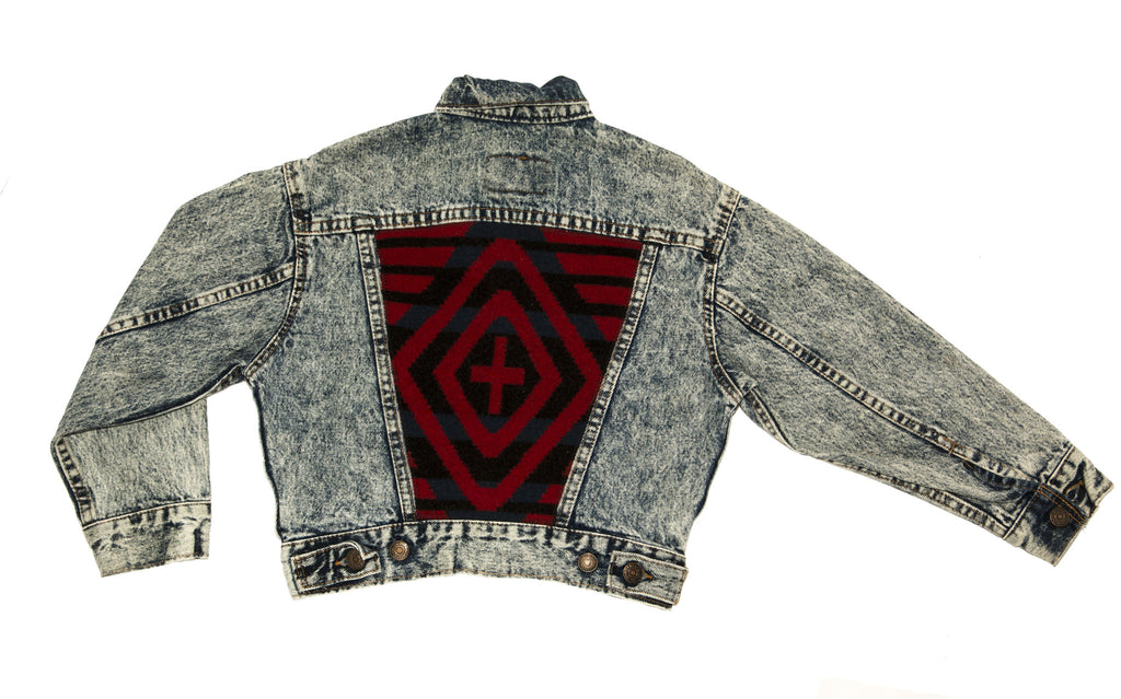 """Cross Tribal"" Vintage Levi Jacket"