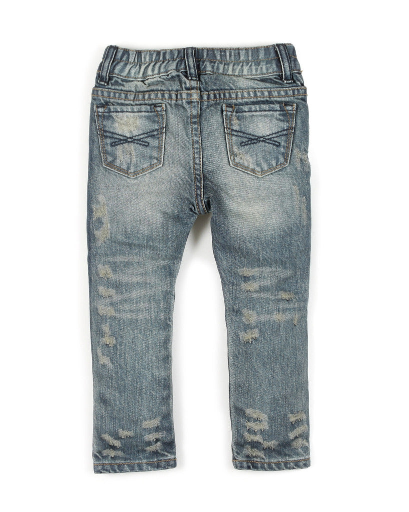 Haus of Jr RYDER DISTRESSED DENIM (REGULAR BLUE)