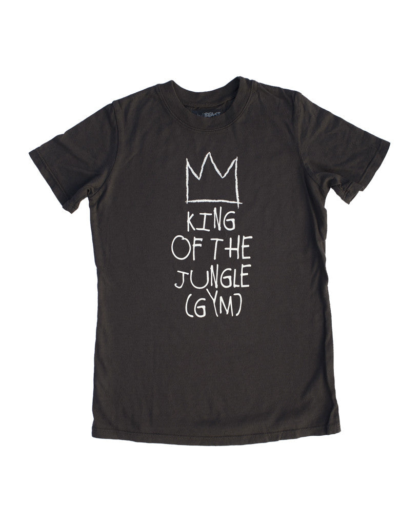 "Baby Beast ""King of the Jungle gym"" Tee (Charcoal)"
