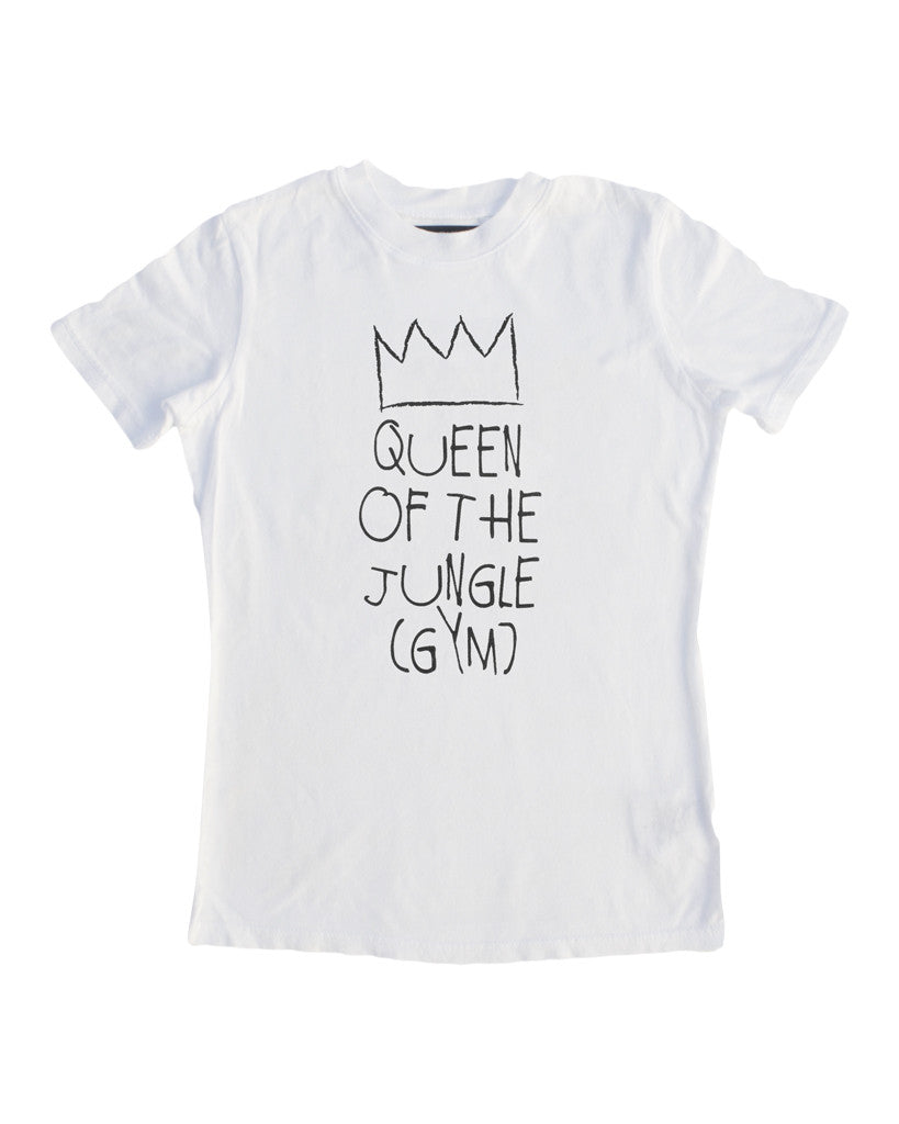 "Baby Beast ""Queen of the Jungle gym"" Tee (White)"