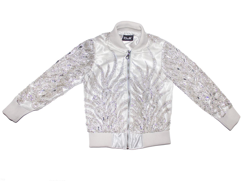 Silver Hand Beaded Sequin Jacket