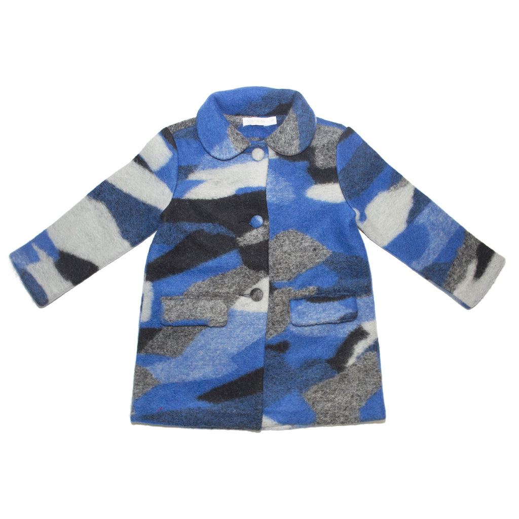 Blue Camo Peacoat Jacket