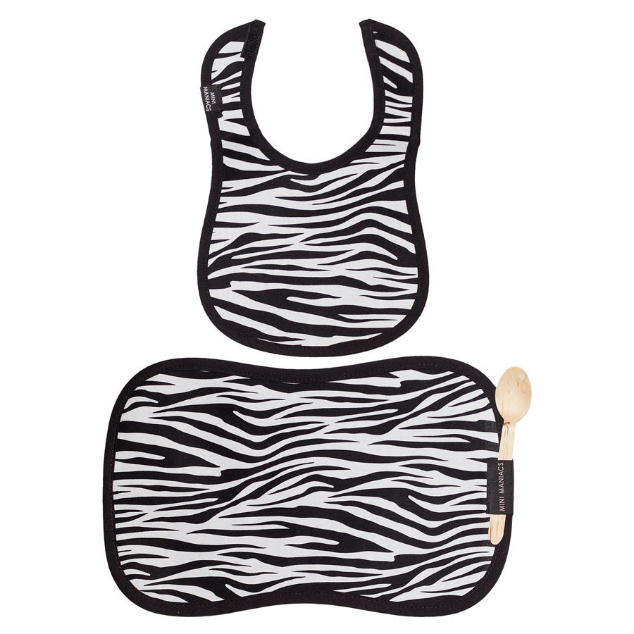 Zebra Bib and Placemat