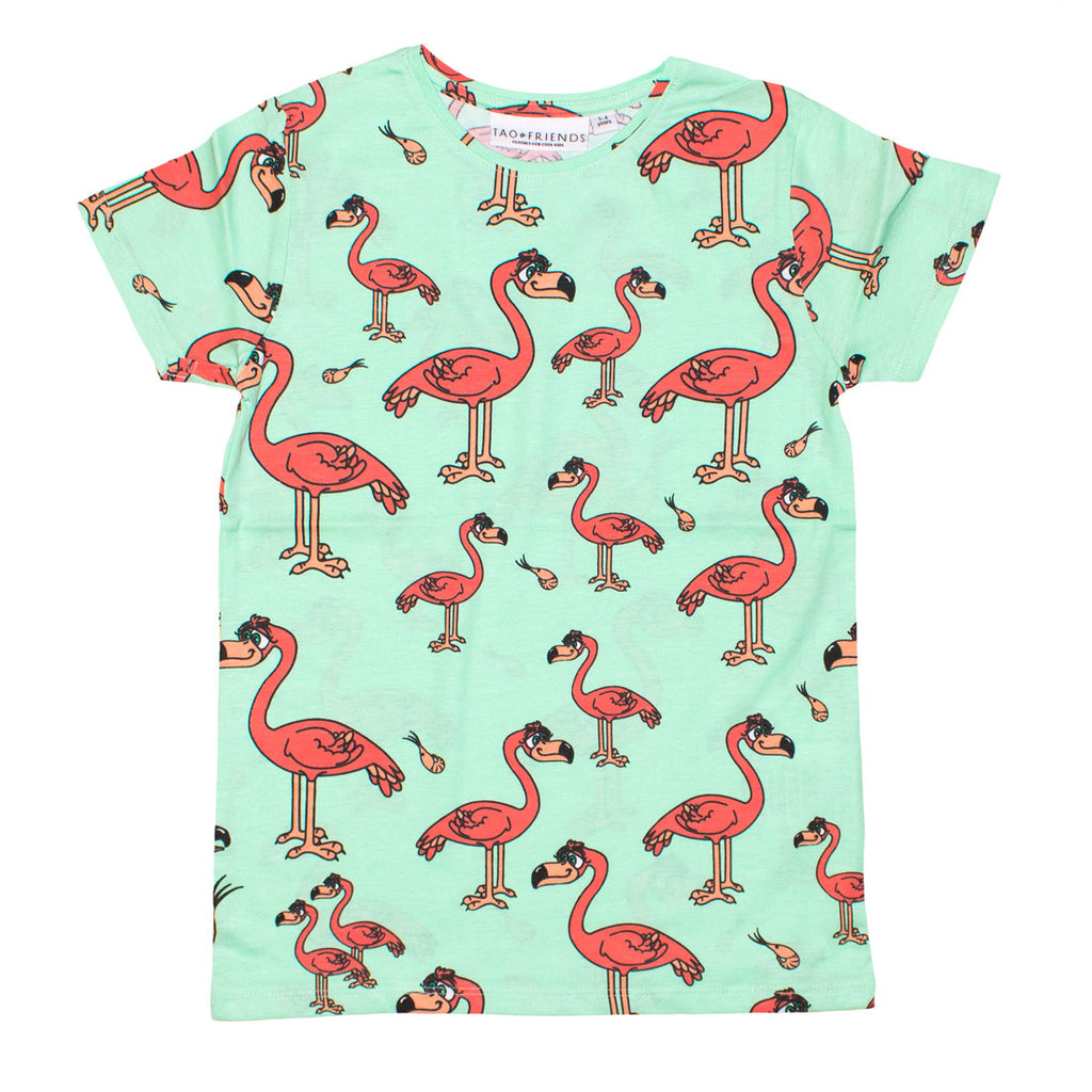Mint Flamingo Tee