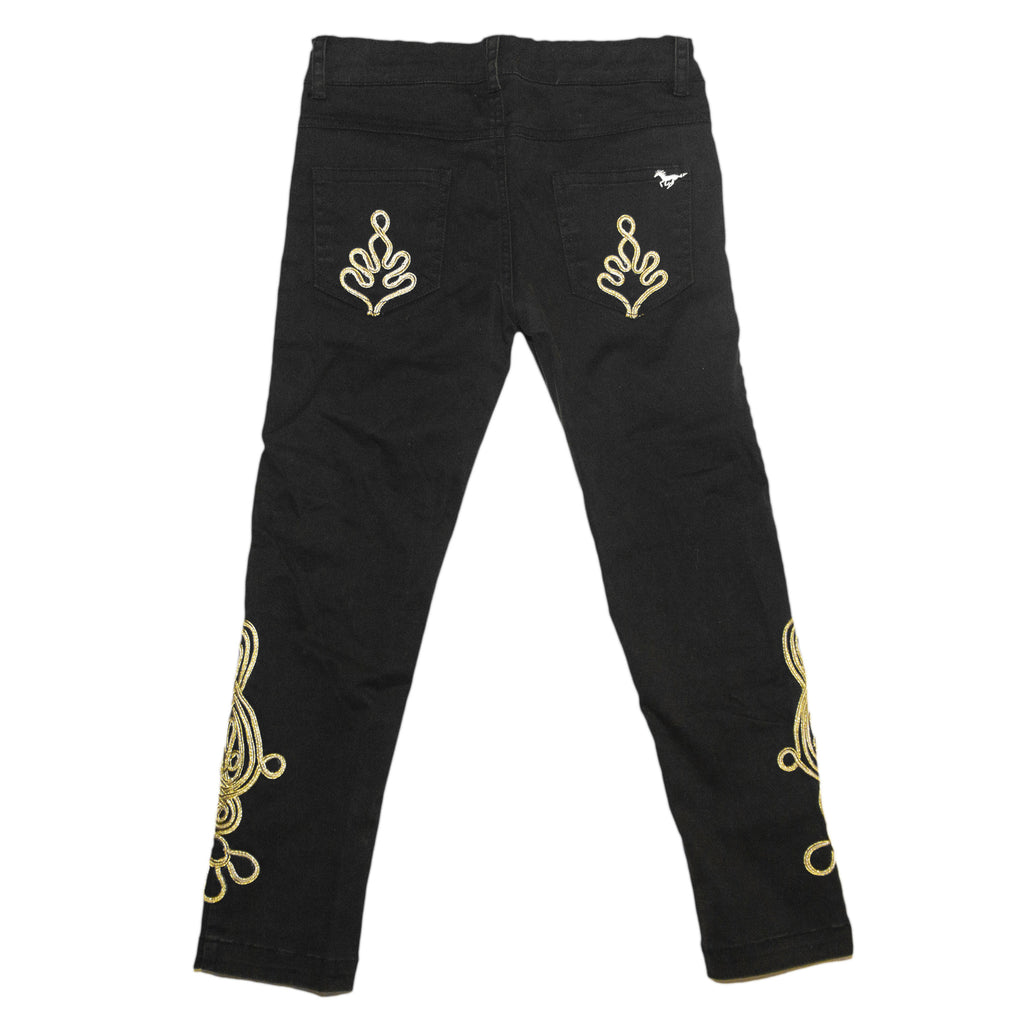 Black Jeans with Gold Accent