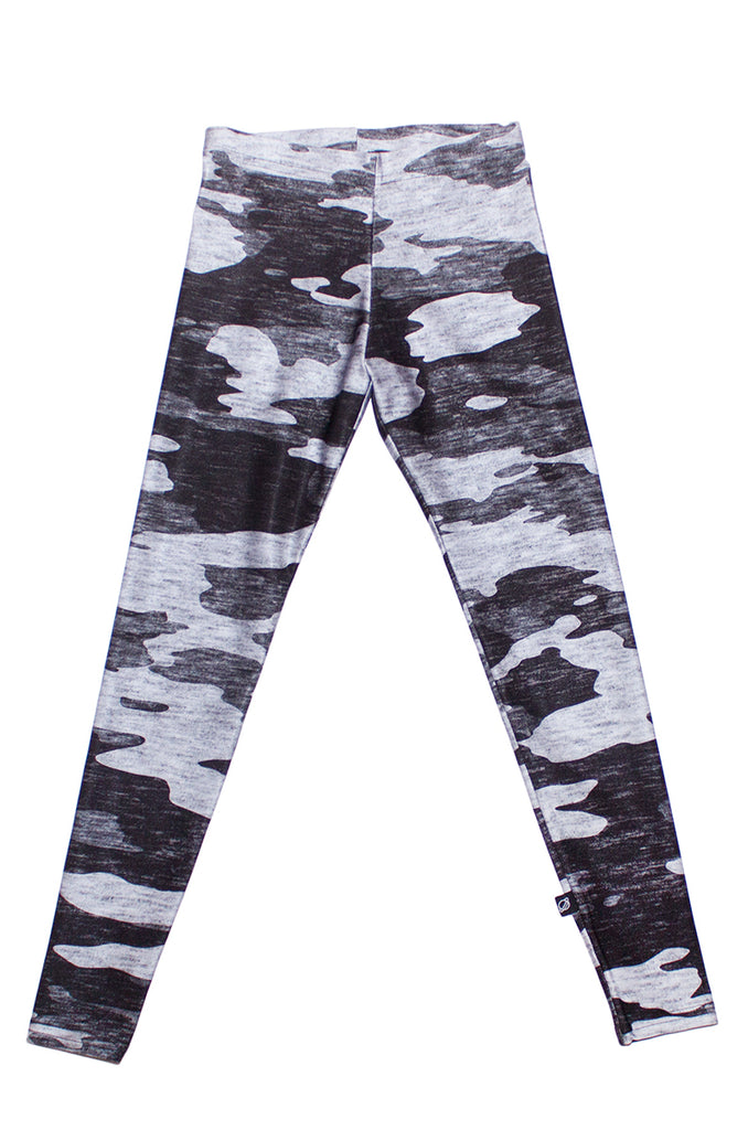 Heathered Gray Camo Leggings