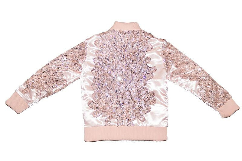 Salmon Hand Beaded Sequin Jacket