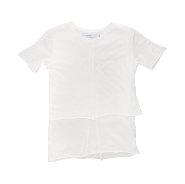 Kids Layered Tee - White