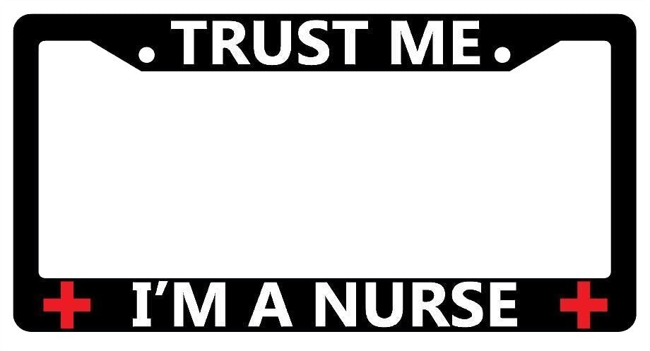 LICENSE PLATE FRAMES - Awesome Nurses