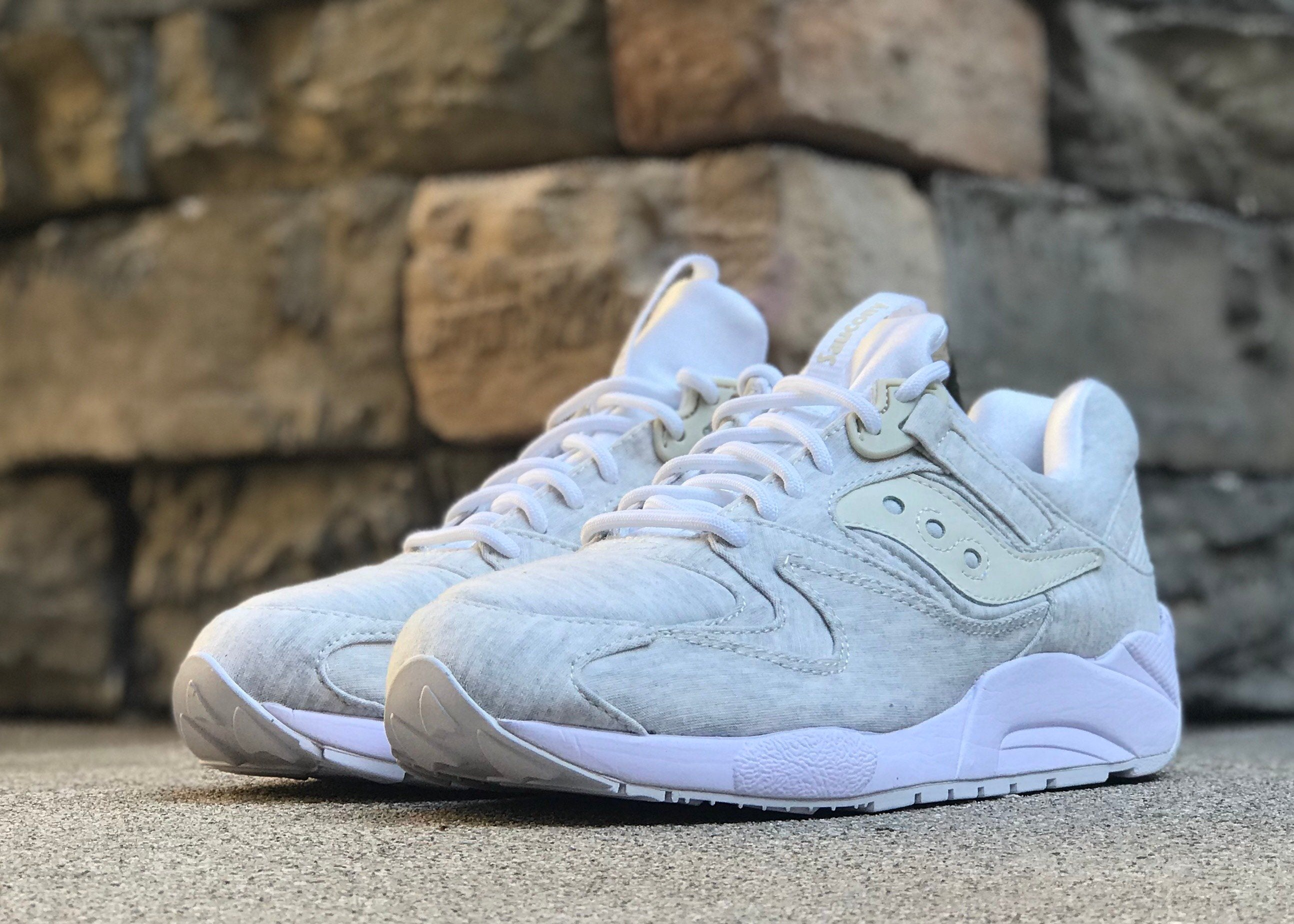 SAUCONY GRID 9000 HT JERSEY - WHITE
