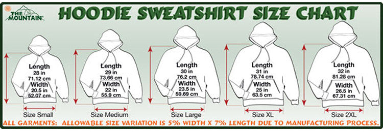 hoodie-size-chart