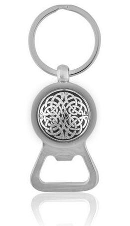 Neverending Knot Bottle Opener Keyring