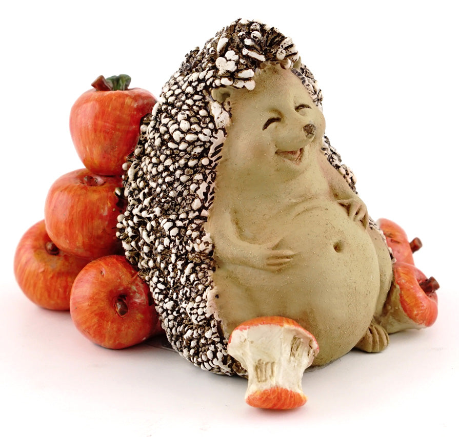 Hedgehog Eating Apples