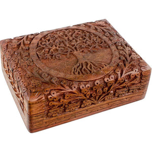 Engraved Tree of Life Box