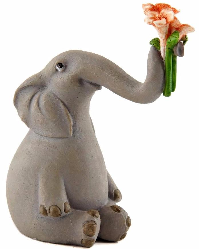 Elephant with Flowers -- DragonSpace