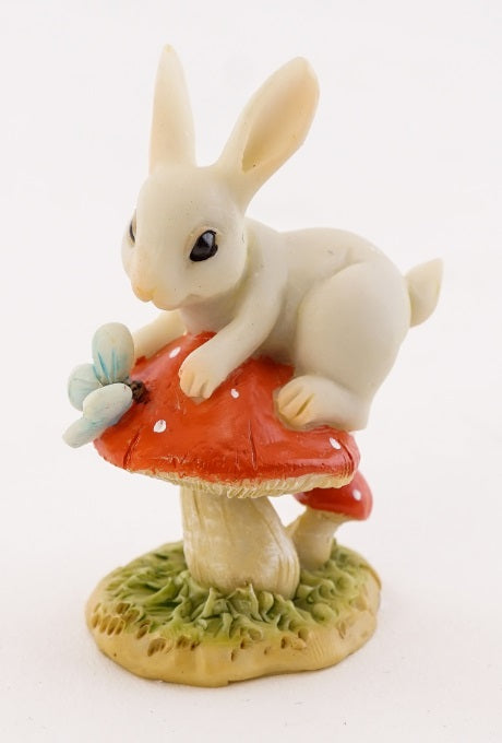 Bunny & Butterfly on Mushroom -- DragonSpace