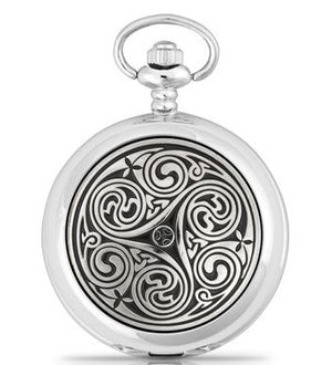 Triple Swirl Pocket Watch