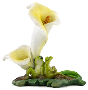 Frogs with Calla Lily