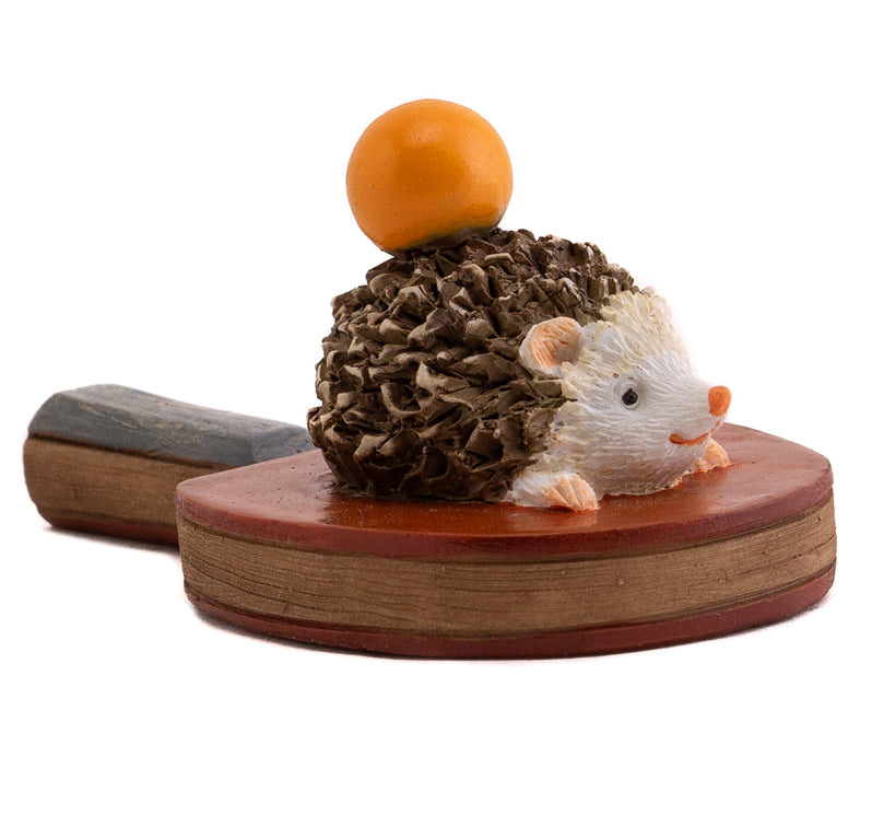 Hedgehog on Ping Pong Paddle