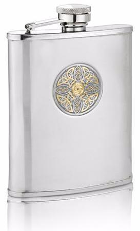 Two Tone Celtic Knot Hip Flask