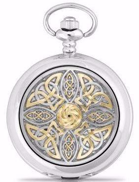 Celtic Knot Two Tone Pocket Watch -- DragonSpace