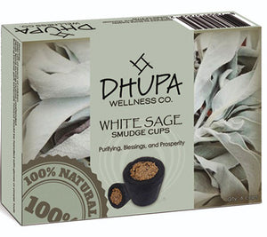 White Sage Smudge Incense Cups