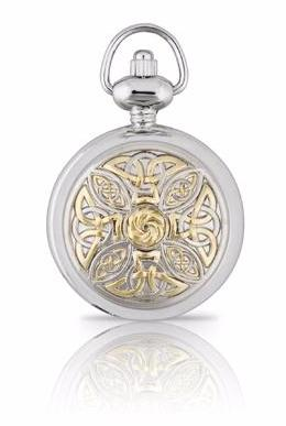 Two Tone Celtic Knot Pendant Watch