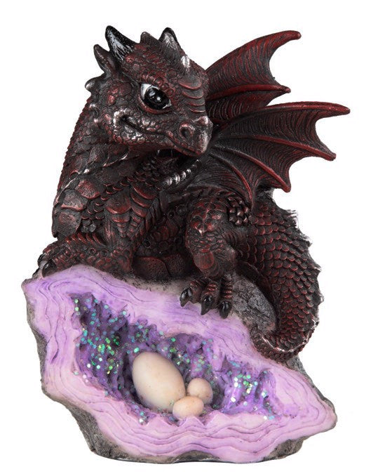 Baby Red Dragon Geode -- DragonSpace