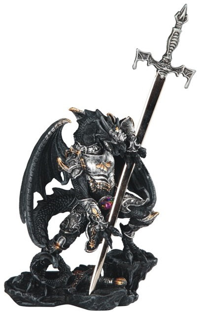 Black Armor Dragon with Sword