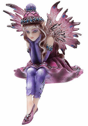 Sitter Fairy with Knit Hat -- DragonSpace