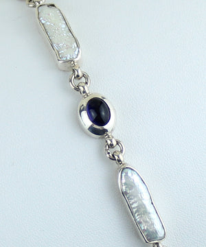 Iolite & Mother-of-Pearl Bracelet