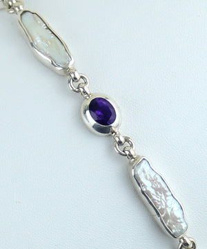 Amethyst & Mother-of-Pearl Bracelet