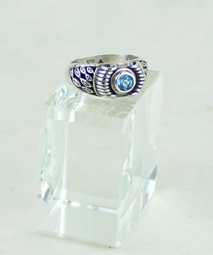 Blue Topaz Ring (7.5)