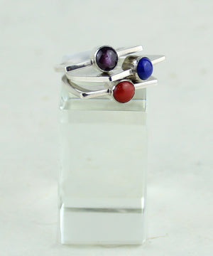 Gemstone Stacker Ring (7)
