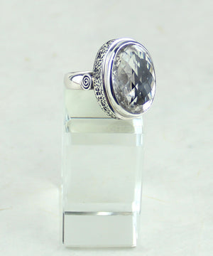 Clear Quartz Ring (9.5)