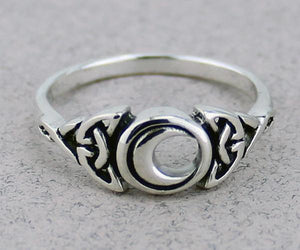 Crescent Moon Ring -- DragonSpace