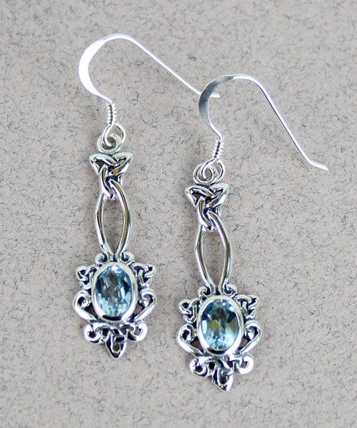 Celtic Earrings with Gem