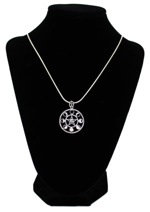 Pentacle Moon Phase Pendant