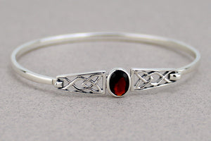 Celtic Bangle with Gem -- DragonSpace