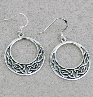 Celtic Hoop Earrings -- DragonSpace